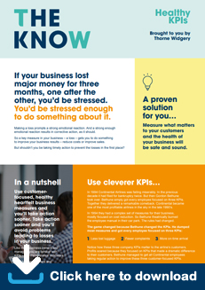 The Know - Healthy KPI's